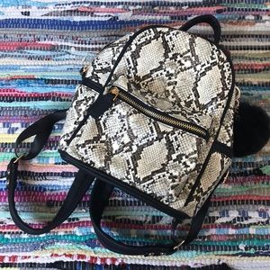 WindsorStore Mini Snake Print Backpack
